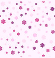 seamless pattern with pinkflowers vector image vector image
