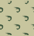 seamless pattern with prawns vector image