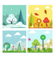 season change in forest vector image