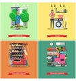 set of cleaning service concept banners vector image vector image