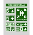 Set of emergency exit banners fire exit emergency vector image vector image
