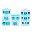 set of houses greece vector image