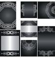 set of templates for cardsweddingbirthday vector image vector image