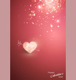 shiny heart soft beautiful background for vector image vector image