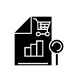 shopping analysis icon black vector image vector image