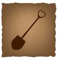Shovel to work in the garden vector image vector image