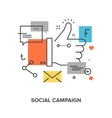 social campaign concept vector image vector image