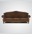 sofa antique furniture isolated vector image vector image