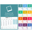 spanish calendar 2018 vector image vector image