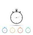 stopwatch icon isolated time timer sign vector image vector image