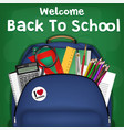 student backpack back to school sale promotion vector image vector image