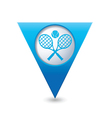 tennis2 BLUE triangular map pointer vector image vector image