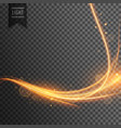 transparent light effect trail with sparkles vector image vector image