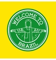 welcome brazil isolated icon design vector image vector image