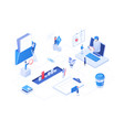 workflow management - modern colorful isometric vector image