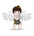 Muay Thai fighters Thailand Boxing vector image