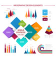 flat infographics elements template vector image