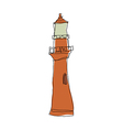A view of light house vector image vector image