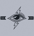 all seeing eye of horus vector image