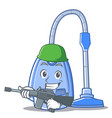 army vacuum cleaner character cartoon