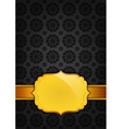 Black abstract texture and golden ribbon vector image