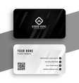 black and white elegant business card design vector image vector image
