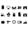 black home devices icons set vector image