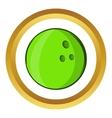 Bowling ball icon cartoon style vector image vector image
