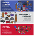 british culture and symbols internet pages vector image