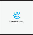 business logo modern hexagon initial c vector image