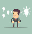 businessman think about ideas cooperate concept vector image vector image