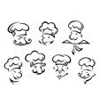 cartoon portraits funny chefs vector image