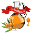 colorful of Sea Buckthorn oil 1 vector image vector image