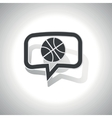 Curved basketball message icon vector image vector image