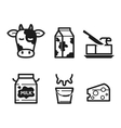 Dairy icons vector image