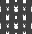 dress icon sign Seamless pattern on a gray vector image vector image