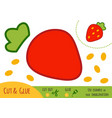 education paper game for children strawberry vector image vector image