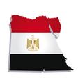 egypt africa map flag vector image