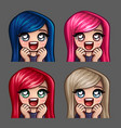 Emotion icons happy female love
