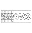 evolute spiral paintings a rectangular pattern vector image vector image