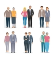 Family Couple Icons Flat vector image