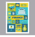 Finance - mosaic poster with icons in flat design vector image