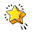 five pointed yellow star comic vector image vector image