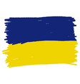 Flag of Ukraine handmade vector image