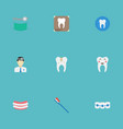 flat icons hygiene dentition radiology and other vector image