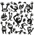 funny monsters -doodles vector image vector image