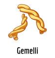 gemelli icon cartoon style vector image