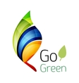Go green Leaf nature concept vector image vector image