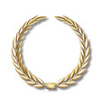 gold laurel wreathlaurel wreath with vector image
