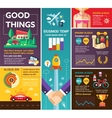 Good Things - poster brochure cover template vector image